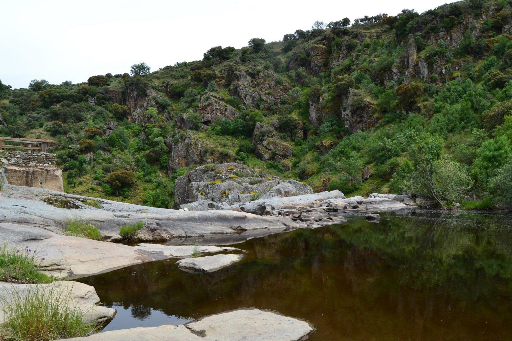 Meandros del Duero junto a la presa del río Duero