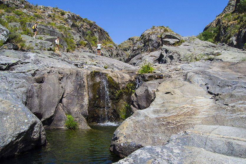 Cascadas en la Senda 3 del Cañón del Tera