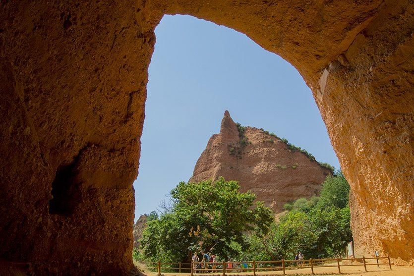 Vistas desde La Cuevona en Las Médulas, León
