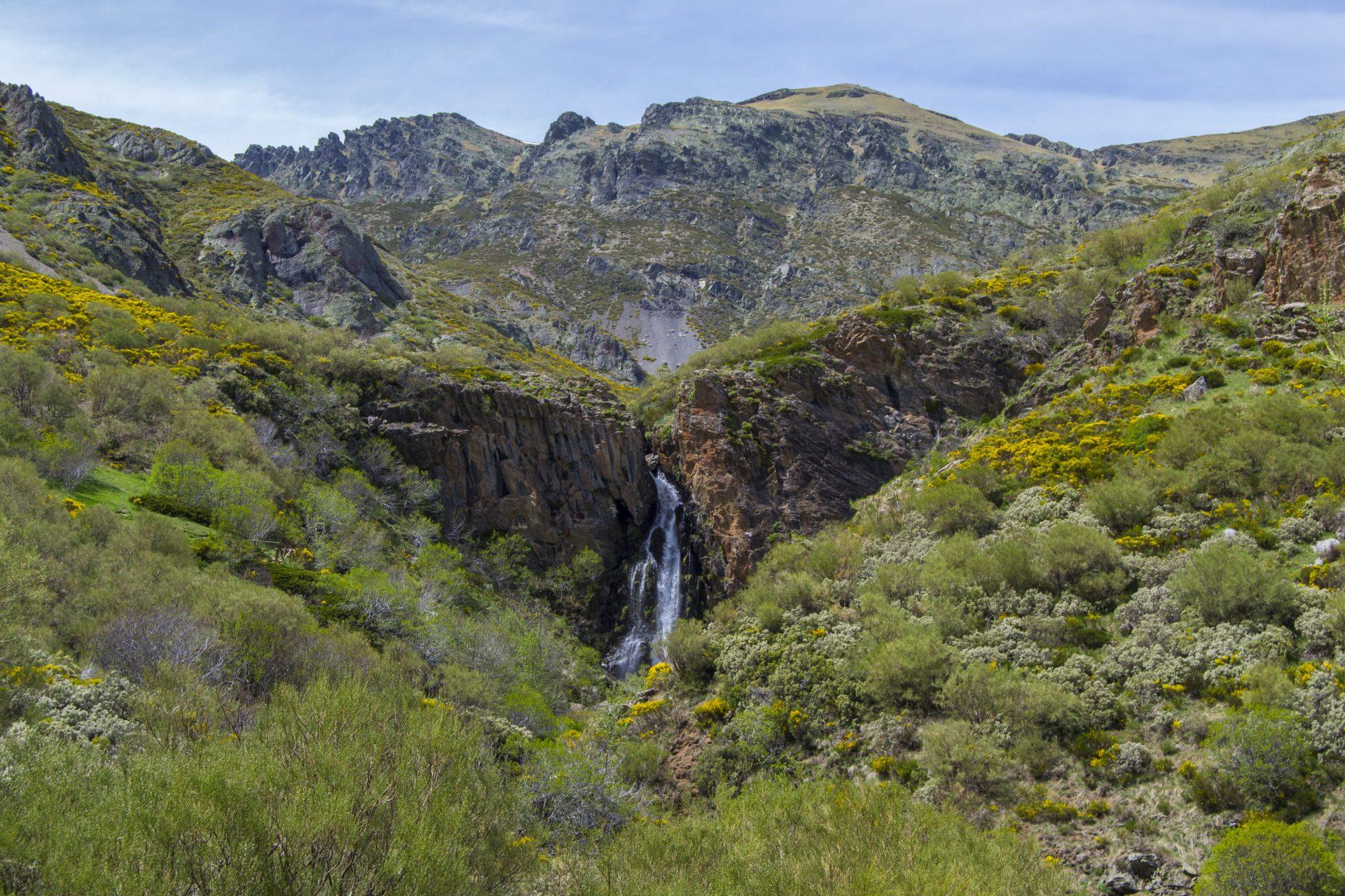 Vista de la Cascada de Mazobre