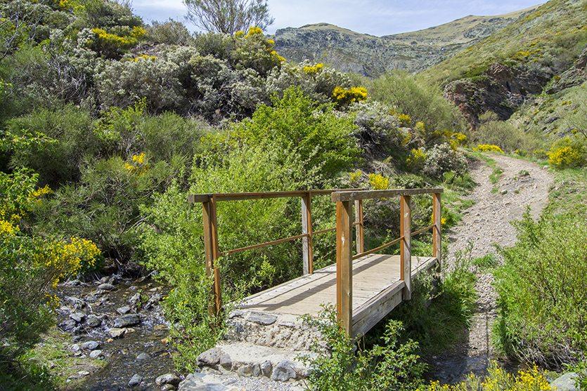 Puente ubicado en la senda de la Cascada de Mazobre