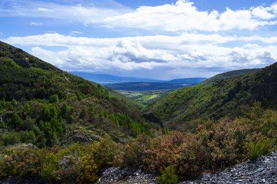 Vistas ruta de Las fuentes Medicinales, en Noceda del Bierzo