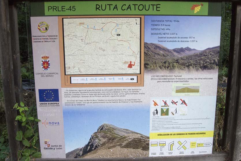 Ruta pico catoute desde Colinas del Campo