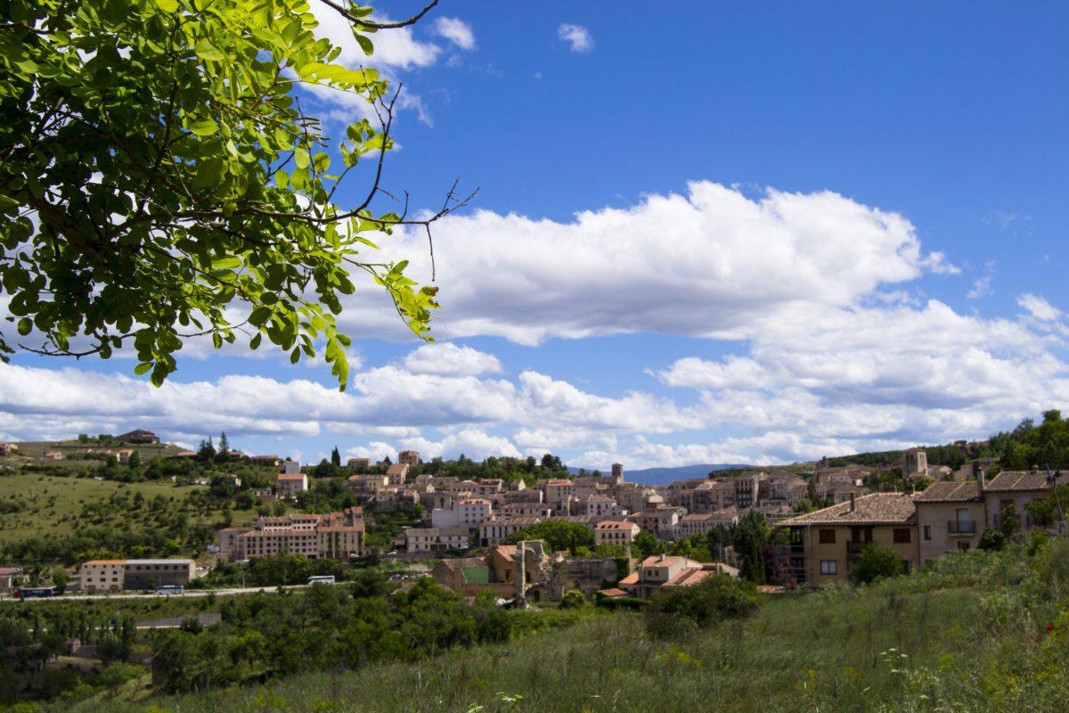 Vistas desde el Mirador de la Peña, en Sepúlveda, Segovia