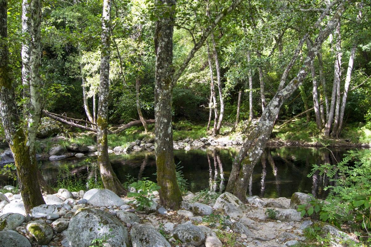 Zona de baño en la Senda de los Pescadores, en Ávila