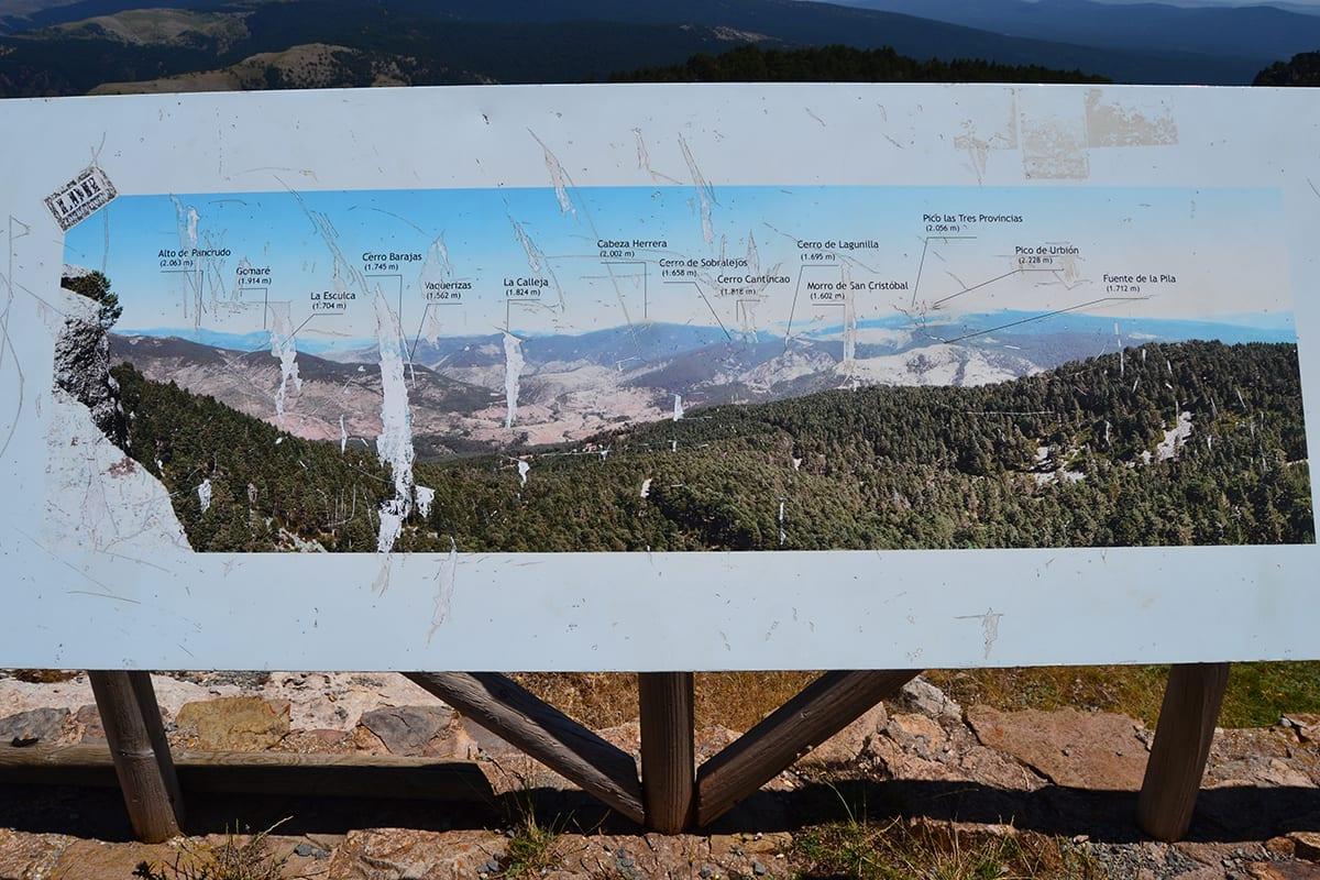 Cartel informativo del Mirador de San Francisco, en Burgos